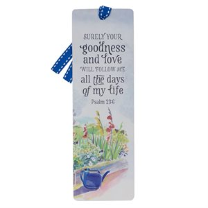 Marque-Page / Goodness and Love Premium Cardstock Bookmark - Psalm 23:6