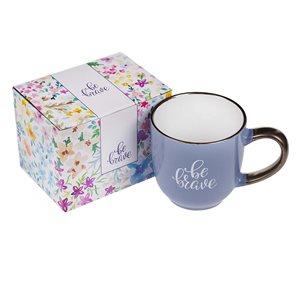 Be Brave Purple Coffee / Tea Mug, Tasse de Café / Thé en Ceramic, 12oz
