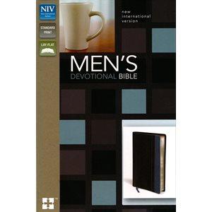 NIV, Men's Devotional Bible, Leathersoft, Black / Blue