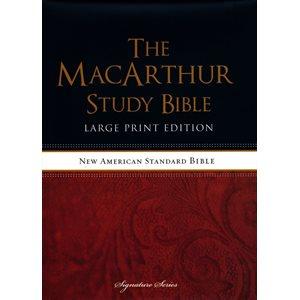 NASB MacArthur Study Bible Large Print Hardcover