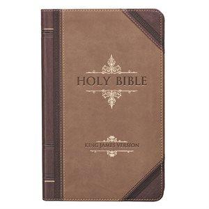 KJV Giant Print Bible. Luxleather brown