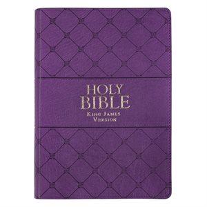 KJV Super Giant-Print Bible--imitation leather, purple