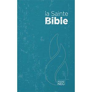 La Sainte Bible, version Segond NEG, Nouvelle Édition de Genève - Couverture rigide bleue, format compact