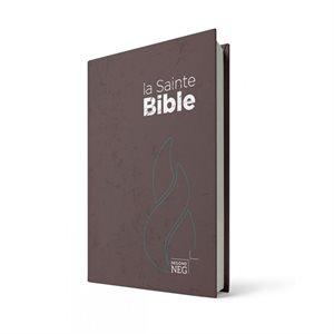 La Sainte Bible, version Segond NEG, Nouvelle Édition de Genève - Couverture rigide marron, format compact