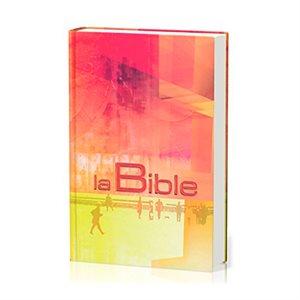 La Bible Segond 21 (S21) - Compacte Couverture rigide rouge orange jaune illustrée, Tranche blanche