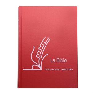 La Bible du Semeur 2015, Lin rouge, Tranche blanche (Couverture rigide rouge, renforcée lin)