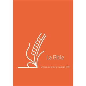 La Bible du Semeur 2015, Lin orange, Tranche blanche (Couverture rigide orange, renforcée lin)