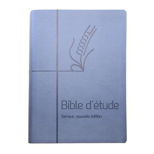 La Bible d'Étude Semeur, Nouvelle Édition (Couverture souple bleue, Tranche blanche)