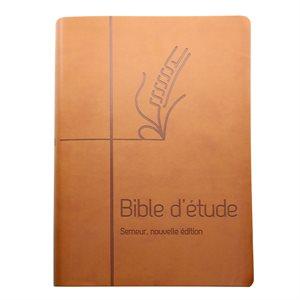 La Bible d'Étude Semeur, Nouvelle Édition (Couverture souple marron, Tranche blanche)