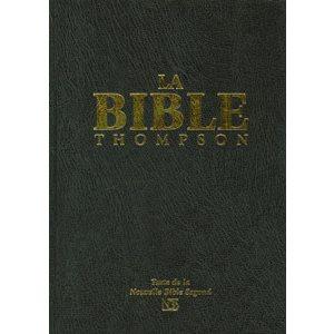 La Bible d'Étude Thompson, NBS, Nouvelle Bible Segond, Couverture Rigide Noire, Sans Onglets
