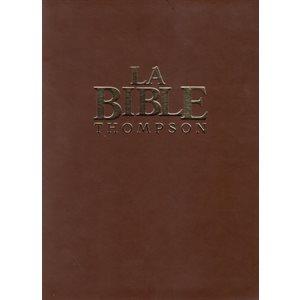 La Bible d'étude Thompson luxe, Version Colombe - Couverture souple marron et tranche dorée