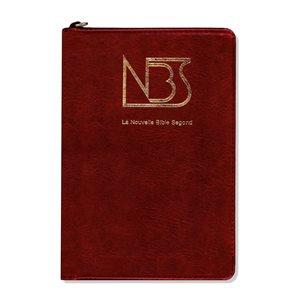 La Nouvelle Bible Segond, NBS, Compacte, Couverture semi-rigide rouge, Tranche dorée, Onglets, Fermeture éclair