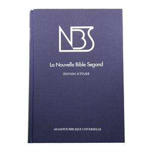 La Nouvelle Bible Segond Édition d'Étude, NBS - Couverture rigide bleue, tranche blanche